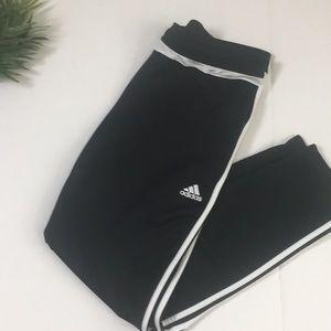 Adidas Black poly Three stripe pants